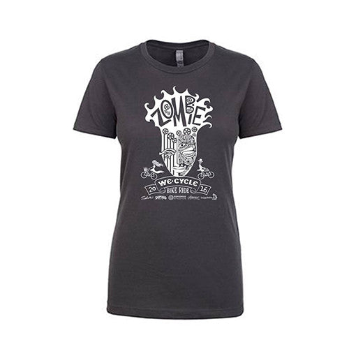 2016 Zombie Women's Boyfriend Tee - Heavy Metal