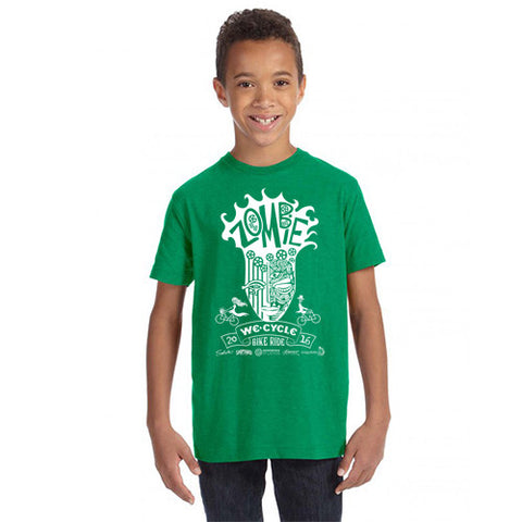2016 Zombie Youth Shirt - Vintage Green - Sizes 5yr and up
