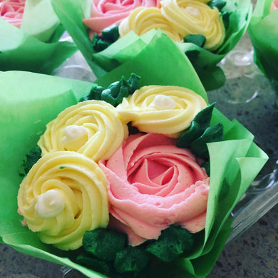 Mini Floral Cupcakes - (8 count)