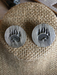 Wildlife Paw Print Post Earrings 18/50