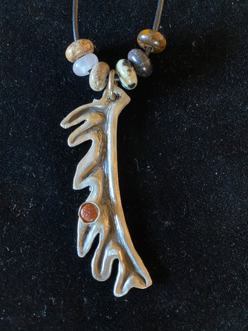 Elk Pendant Necklace  18/46