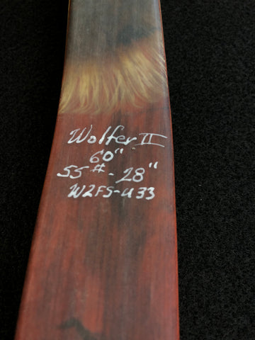 "Feather Styk Wolfer II  W2-U33 60"" 55#@28"" Bow Bolt"