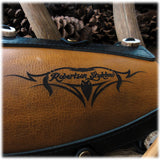 Two-Tone Leather Armguard with Robertson Stykbow Engraving
