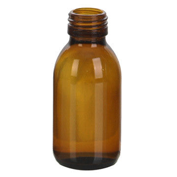 Amber Glass Bottles 100 ml (3.3 oz) No Cap - Sunrise Botanics