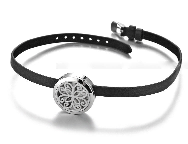 Aromatherapy Leather Wrap Diffuser Bracelet - Sunrise Botanics