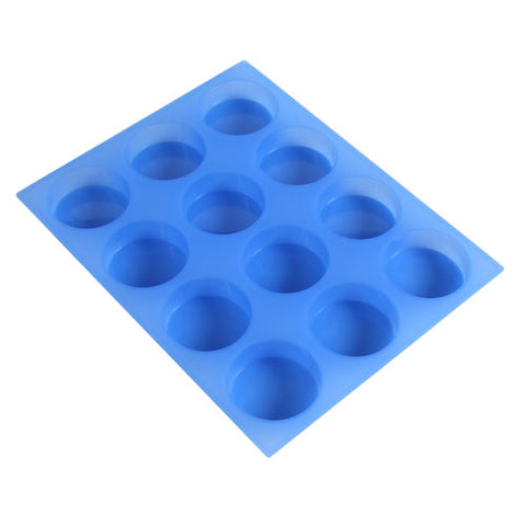 Round Soap Mold 12 cavity silicone