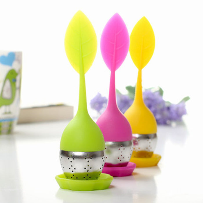Tea Infuser Stainless Steel Silicone Leaf