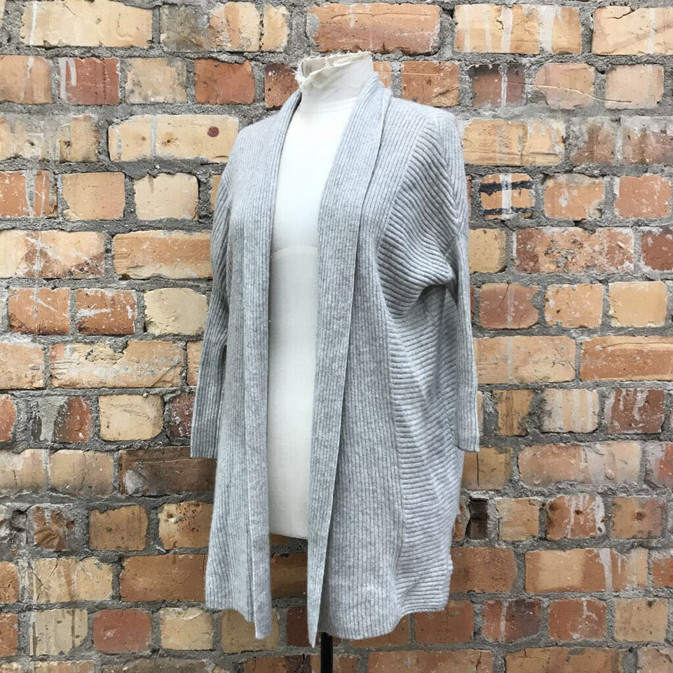 open ribbed cashmere cardigan