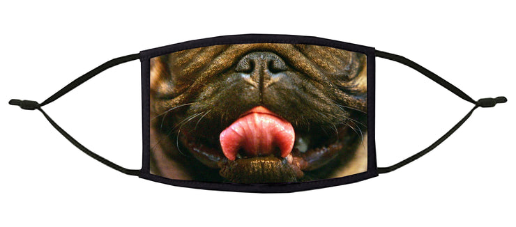 A Pug's Life Adjustable Face Mask