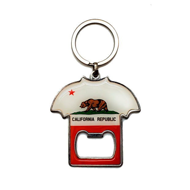 """California Golden Bear"" T-shirt Key Ring/Bottle Opener"