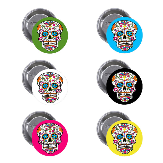 "Bronze Baboon Wholesale ""Color Me"" Day of the Dead Buttons"