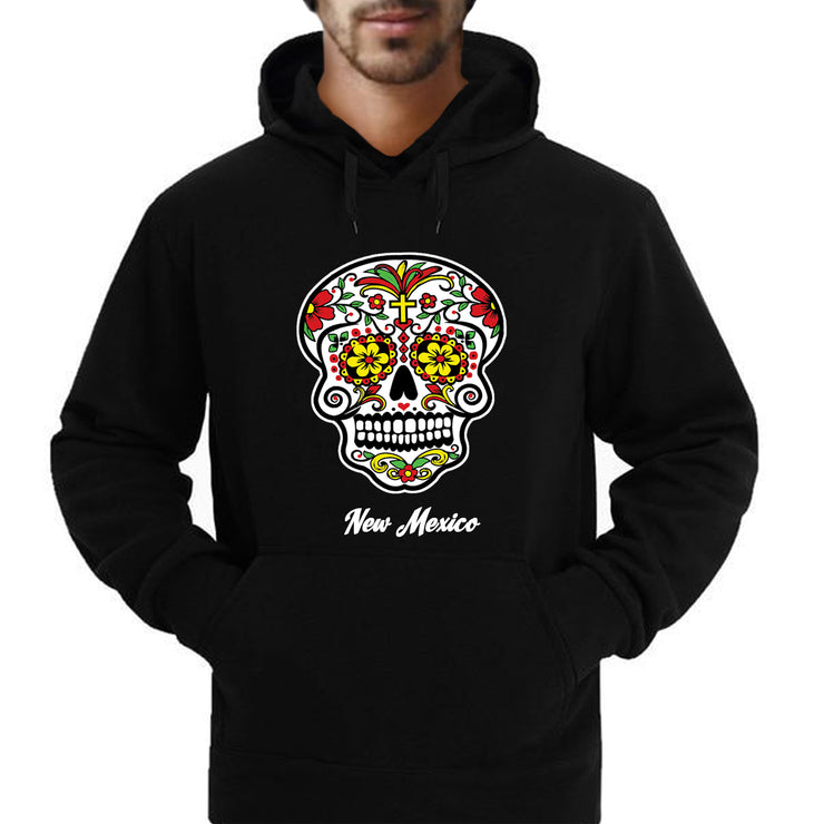 """Sugar Skull Color Me-Red"" Hoodie Sweatshirt"