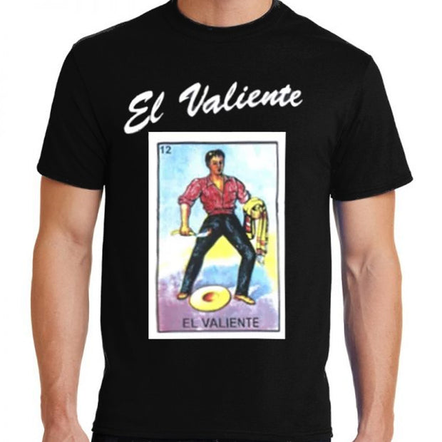 """Loteria: El Valiente"" (the Brave) Unisex Cotton T-Shirt by Bronze-Baboon.com wholesale."