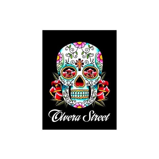 "Bronze Baboon wholesale. We make custom magnets. ""Eyes of Roses"" Day of the Dead 2.5"" x 3.5"" Magnet"