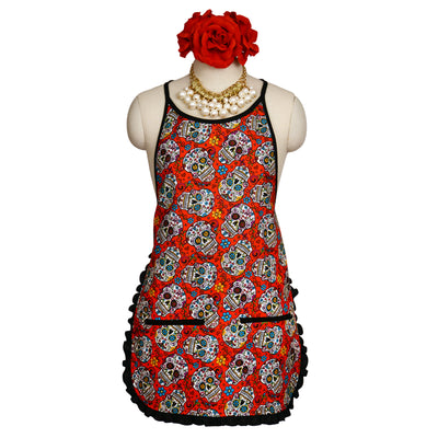 "Wholesale by Bronze Baboon: ""Folkloric-Red"" Classic Apron"