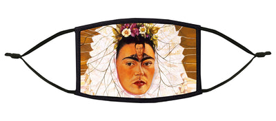 "Frida with Diego on Her Mind (""Tehuana"") Adjustable Face Mask"