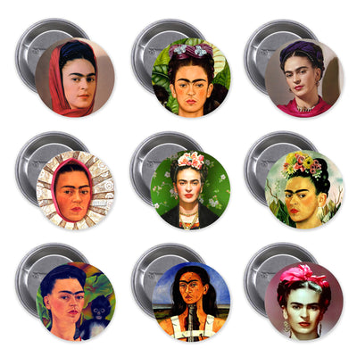 Bronze Baboon wholesale Frida Kahlo buttons.