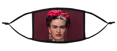 Frida with Pink Bow Adjustable Face Mask