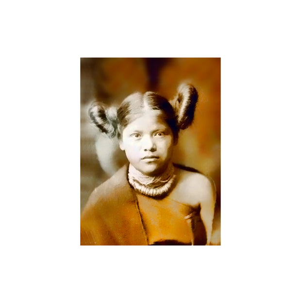 "Bronze Baboon wholesale. We make custom magnets. ""Native American: Hopi Girl"" 2.5"" x 3.5"" Magnet"