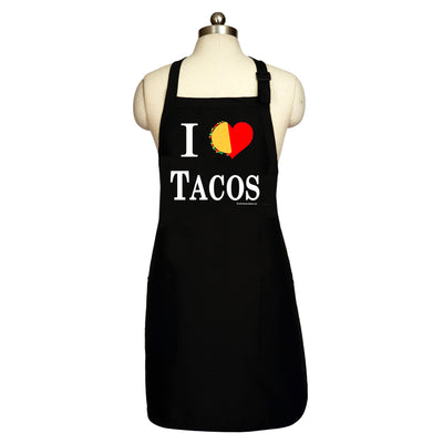 Bronze Baboon wholesale I Love Tacos men's aprons.