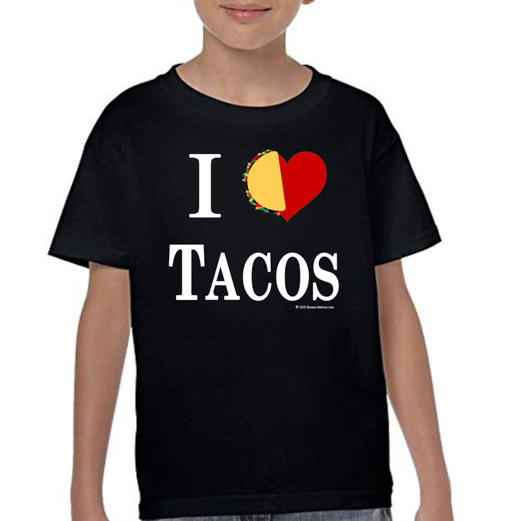 Bronze Baboon Wholesale I Love Tacos Kid's T-shirts