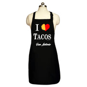 Bronze Baboon wholesale I Love Tacos San Antonio men's aprons.