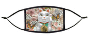 Japanese Maneki Neko Adjustable Face Mask (Lucky Cat)