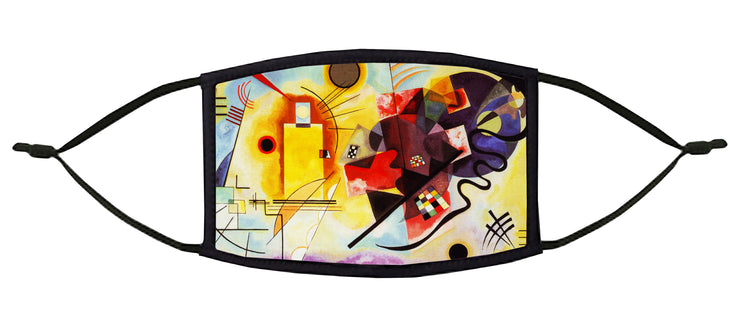 Yellow Red Blue Adjustable Face Mask (Kandinsky)