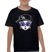 "Bronze Baboon Wholesale ""LA Friducha Playball"" Kid's T-shirts"