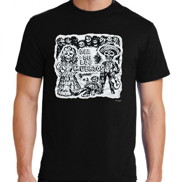 "Bronze Baboon wholesale ""Fiesta"" Day of the Dead Unisex Cotton T-Shirt"