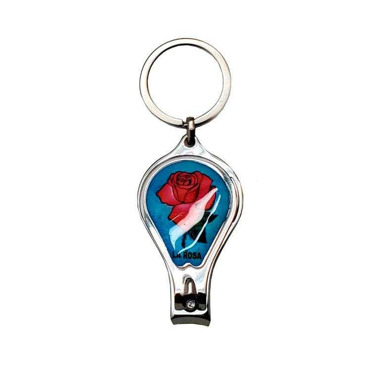 """Loteria"" Keychain/Bottle Opener/Nail Clipper"