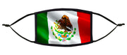 Mexican Flag Adjustable Face Mask