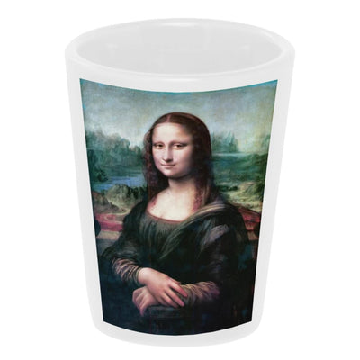 Bronze Baboon wholesale Mona Lisa Ceramic Shot Glass