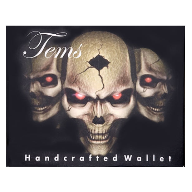 """Skulls With Glowing Eyes"" Wallet"