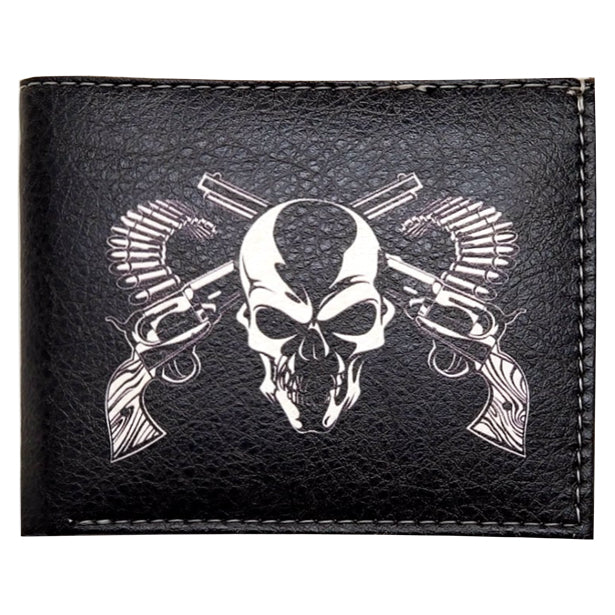 "Wholesale by Bronze Baboon: ""Skull with Crossguns"" Wallet"