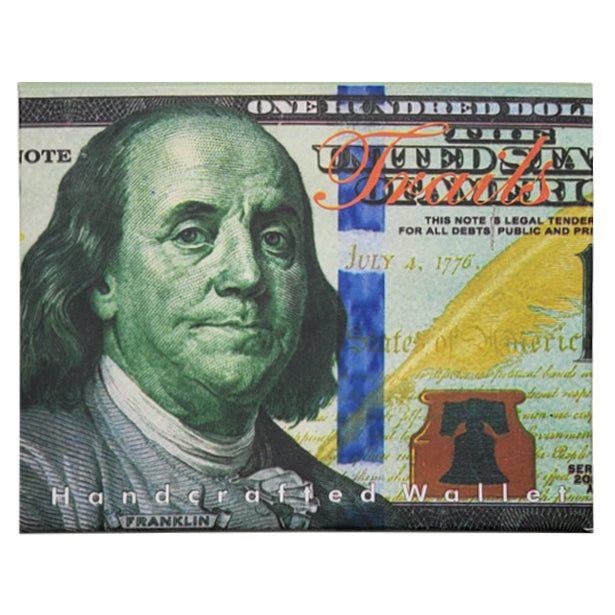 """Ben Franklin $100 Color"" Wallet"