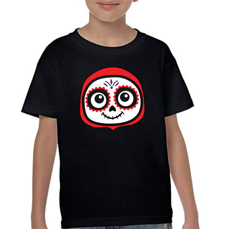 Bronze Baboon wholesale Pablito Day of the Dead kids t-shirts.