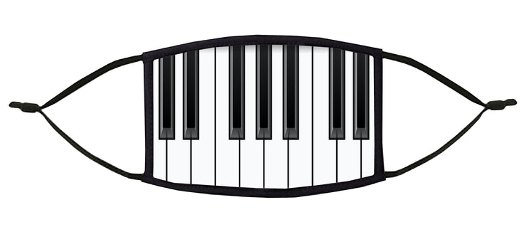 Piano Keys Adjustable Face Mask