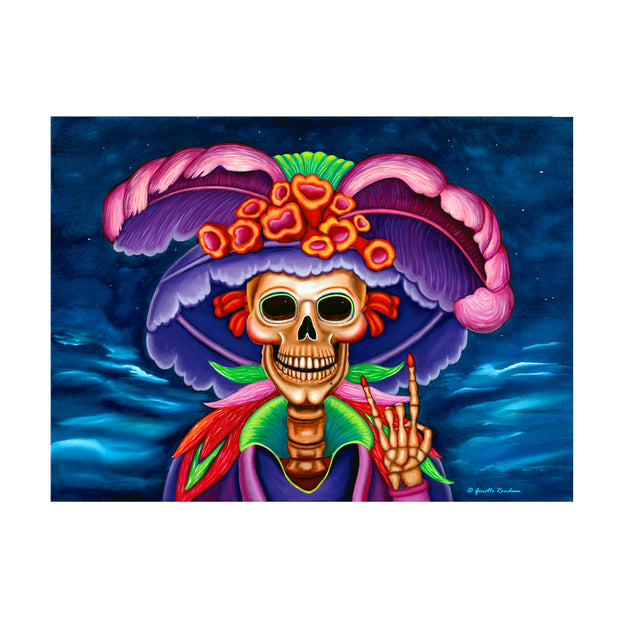 "Bronze Baboon wholesale. Custom Magnets. """"Rock On Catrina"" 2.5"" x 3.5"" Day of the Dead Magnet"