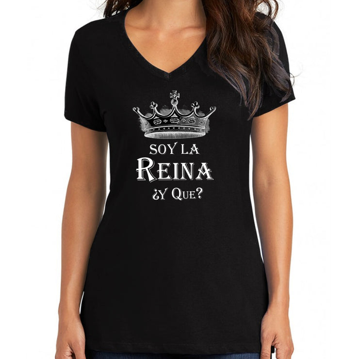 "Wholesale by Bronze Baboon ""Soy La Reina ¿Y Que?"" V-Neck T-Shirt"