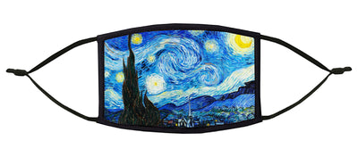 The Starry Night Adjustable Face Mask (Van Gogh)