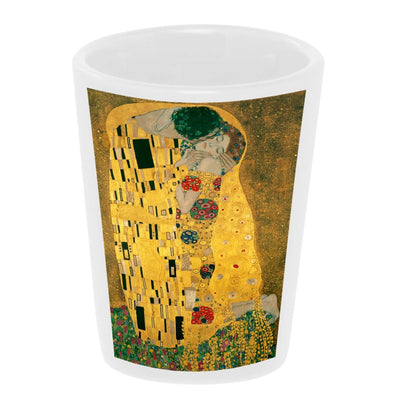 Bronze Baboon wholesale The Kiss By Gustav Klimt ceramic shot glass.
