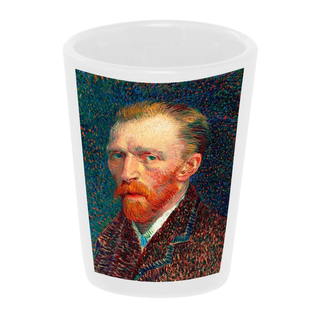 Bronze Baboon wholesale Self-Portrait (1887) by Vincent Van Gogh 1.5 oz. White Ceramic Shot Glass