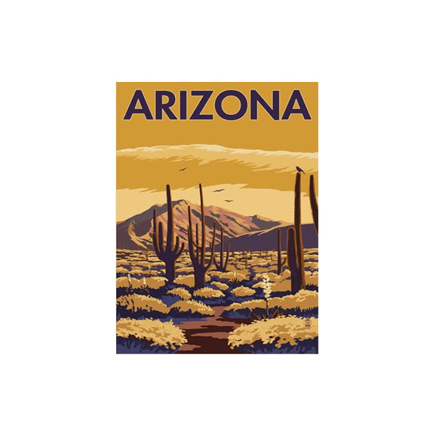 "Bronze Baboon wholesale. We make custom magnets. ""Vintage: Arizona Desert"" 2.5"" x 3.5"" Magnet"