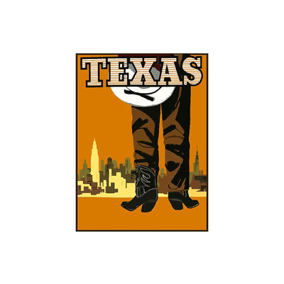 "Bronze Baboon wholesale. We make custom magnets. ""Vintage: Texas"" 2.5"" x 3.5"" Magnet"