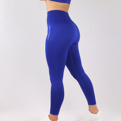 Women's Blue Essential Seamless High Waist Gym Leggings
