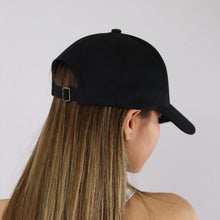 Load image into Gallery viewer, Women's Black Unisex Baseball Cap