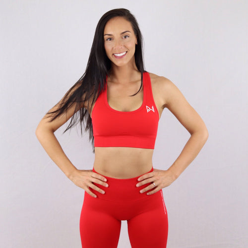 Red Essential Seamless Sports Bra