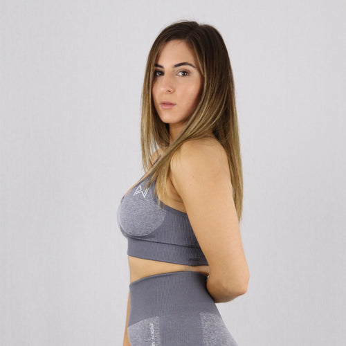 Women's Light Grey Flex Sports Bra