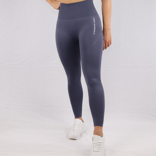Women's Grey Seamless High Waisted gym Leggings